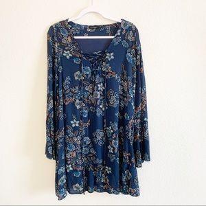 Blu Pepper | Boutique BoHo Floral Print Dress L